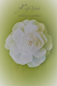 Bridal hair clip from the cloth WH-06